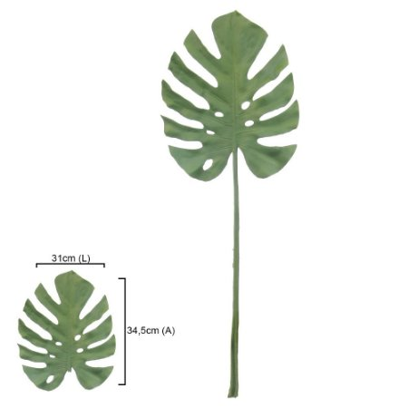Haste Folha Costela de Adão - 84cm