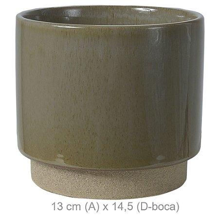 Vaso Cerâmica 13cm - Verde