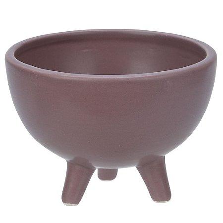 Vaso Cerâmica com Pé 8cm - Marsala