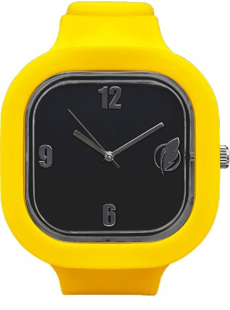 Relógio Preto / Amarelo