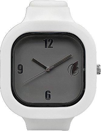 Relógio Cinza / Branco