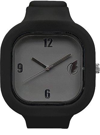 Relógio Cinza / Preto