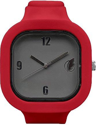 Relógio Cinza / Marsala