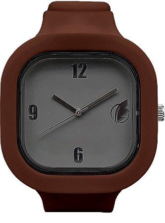 Relógio Cinza / Coffee