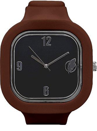 Relógio Preto / Coffee