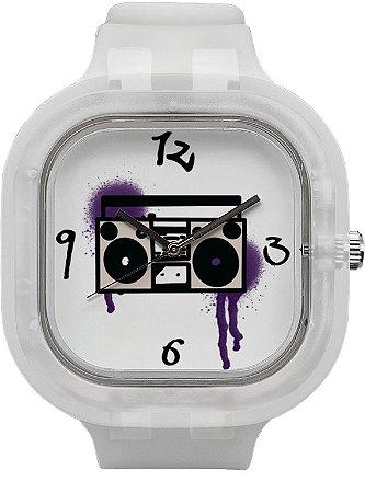 Relógio BoomBox - Invisible