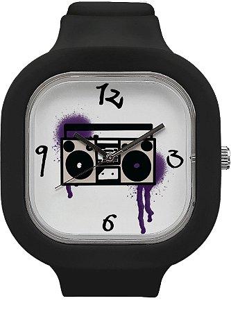 Relógio BoomBox - Preto