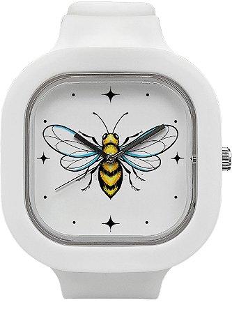 Relógio Abelha - Branco