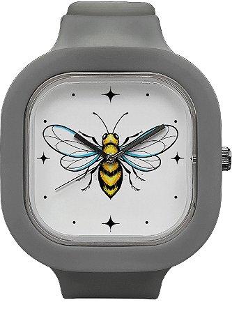 Relógio Abelha - Cinza