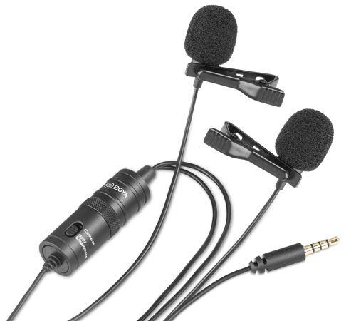 Microfone BOYA BY-M1DM (Lapela)
