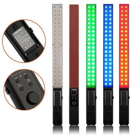 Bastão / Espada de LED Yongnuo - YN360 RGB + Bateria + Carregador + Fonte de Alimentação