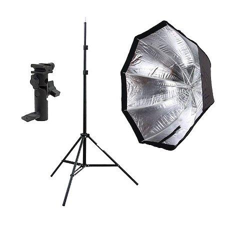 Kit de Iluminação F200 - 1 Tripé 2 m + 1 Suporte de Sombrinha YA-421 + 1 Octobox 80cm