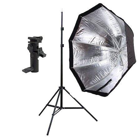 Kit de Iluminação F300 - 1 Tripé 2 m + 1 Suporte de Sombrinha YA-421 + 1 Octobox 120cm