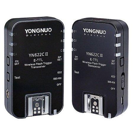 Kit Rádio Flash Yongnuo YN-622C II E-TTL (para Canon)