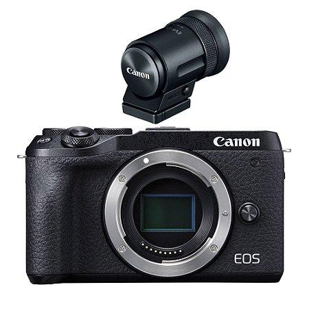 Canon EOS M6 Mark II Mirrorless (somente corpo) + Visor EVF-DC2