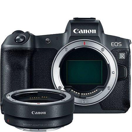 Canon EOS R Mirrorless + Adaptador Canon para Lentes EF e EF-S