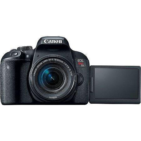 Canon EOS Rebel T7i (800D) + Lente 18-55mm STM