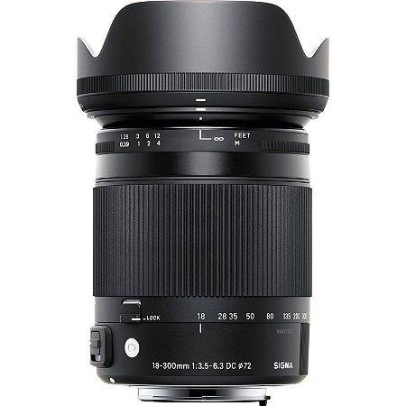 Lente Sigma 18-300mm F/3.5-6.3 DC Macro OS HSM Contemporary (Para Canon)