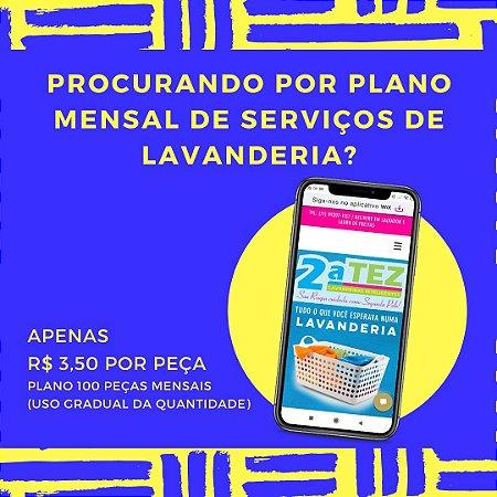 LAVANDERIA | Plano Mensal 100 Peças (uso gradual)