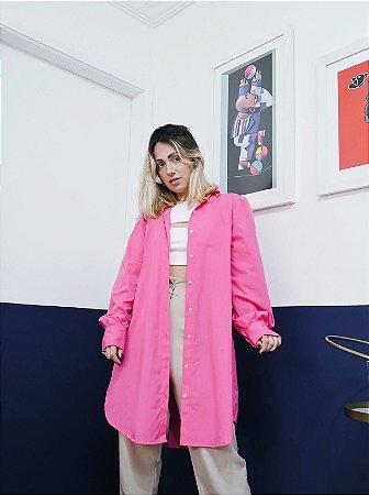 Camisa rosa alongada