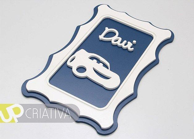 Quadro porta maternidade e quarto do bebê carro personalizado