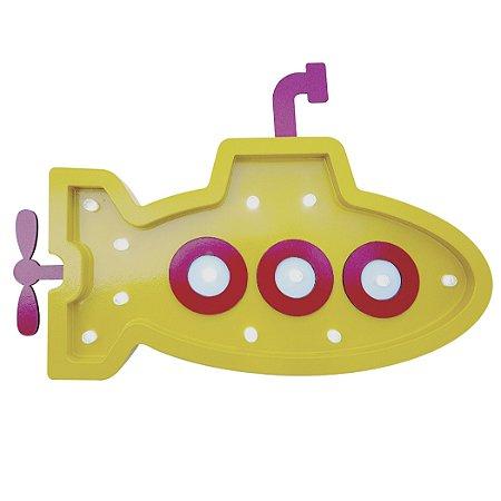 Luminoso Submarino MDF/Led Frontal para Quarto de Bebê