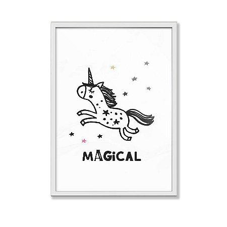 Poster Unicórnio Magical