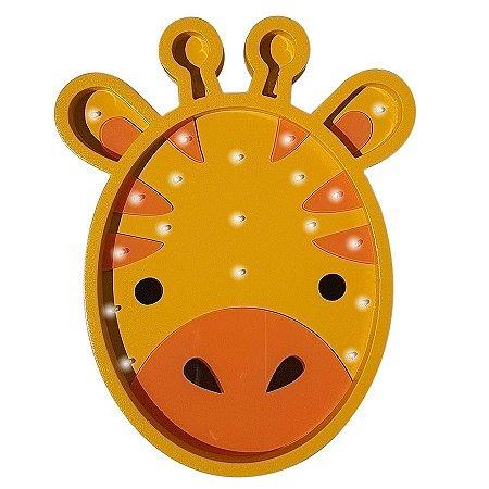 Luminoso Girafa MDF/Led Frontal para Quarto de Bebê