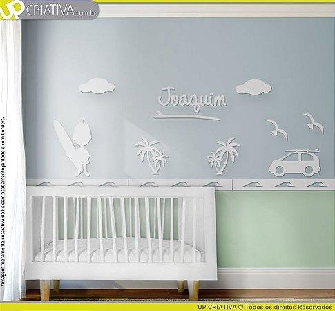 Painel decorativo para quarto de bebê - Tema Surfista MDF