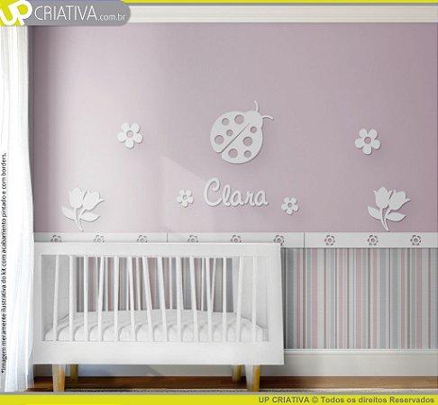 Painel decorativo para quarto de bebê - Tema Joaninha MDF