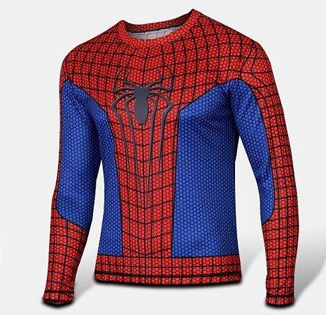 Camiseta Manga Longa Homem Aranha - Herói Mania  A Melhor Loja Nerd! 18e81cbead9f7