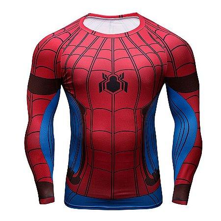5ae68fd0a Camiseta Manga Longa Homem Aranha - Guerra Civil - Herói Mania  A ...