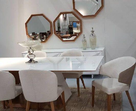 Moldura Espelho Decorativo Octogonal