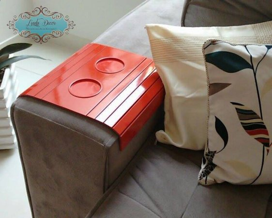 Esteira bandeja de sofá laqueada