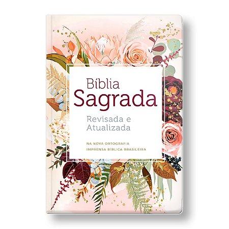 BÍBLIA ARA - SEMILUXO - LETRA GRANDE FLOR DE HENNA
