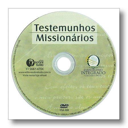 TESTEMUNHOS MISSIONÁRIOS - EMBALAGEM ENVELOPE PLÁSTICO