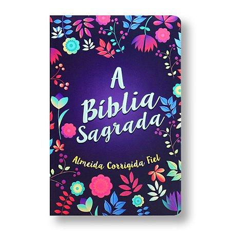 BÍBLIA ACF SLIM LETRA MÉDIA CAPA BROCHURA FLORIDA