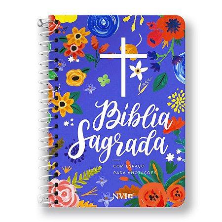 BÍBLIA NVI ANOTE - ESPIRAL CAPA CÉU AZUL