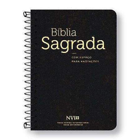 BÍBLIA NVI ANOTE - ESPIRAL CAPA PRETA