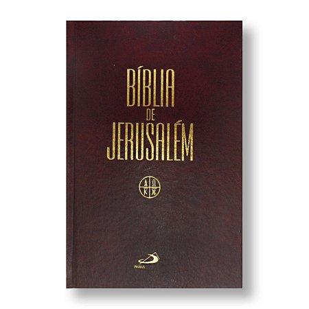 BÍBLIA DE JERUSALÉM (CATÓLICA) CAPA DURA COR MARROM / ÚNICA