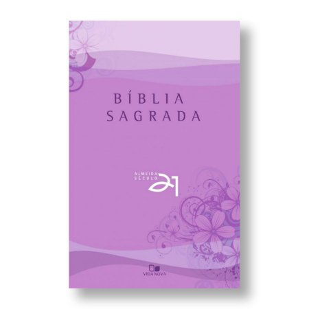 BÍBLIA ALMEIDA 21 BROCHURA LILÁS REFERÊNCIAS CRUZADAS