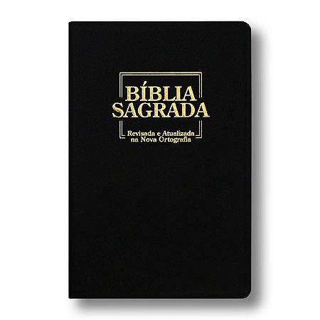 BÍBLIA GIGANTE REVISADA E ATUALIZADA (NA NOVA ORTOGRAFIA) PRETA LUXO
