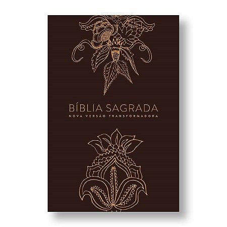 BÍBLIA NVT LN LETRA NORMAL - INDIAN FLOWERS - DOURADA