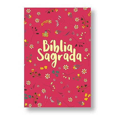 BÍBLIA NVT LN LETRA NORMAL - PEQUENO JARDIM - PINK