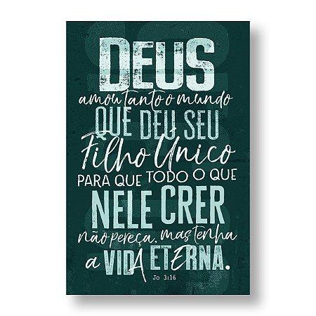 BÍBLIA NVT LN LETRA NORMAL - JOÃO 3:16 - AZUL