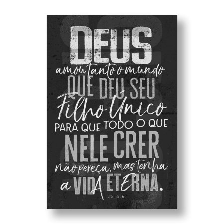 BÍBLIA NVT LN LETRA NORMAL - JOÃO 3:16 - CHUMBO