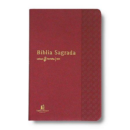 BÍBLIA NVI LEITURA PERFEITA CAPA VERMELHA