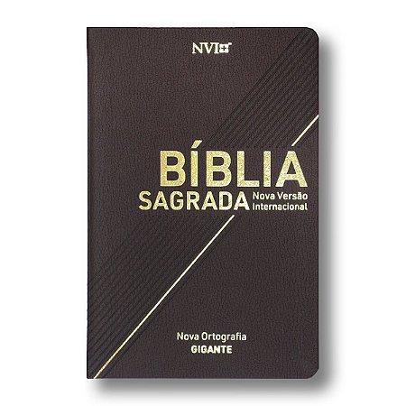 BÍBLIA NVI LETRA GIGANTE MARROM