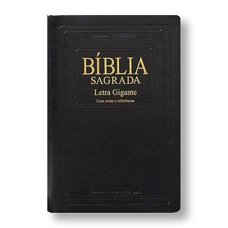 BÍBLIA RA065TILGI LETRA GIGANTE PRETA NOBRE COM ÍNDICE, NOTAS E REFERÊNCIAS