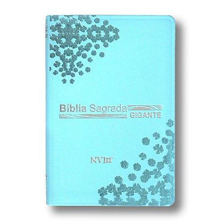 BÍBLIA NVI LETRA GRANDE LUXO TURQUESA